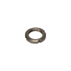 Nut with slots for bearings
